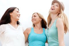 Free Girls Looking Up In The Sky Royalty Free Stock Photos - 33877858