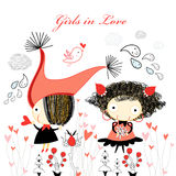 Girls in love Stock Images