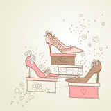 Girls Love Shoes! Stock Images