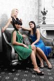 Girls in luxury interior Royalty Free Stock Photography