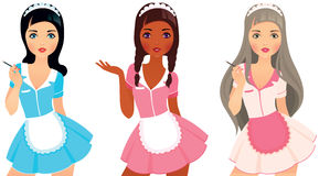 Girls maid Stock Photos