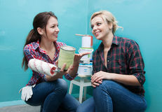 Girls make repairs Royalty Free Stock Photography