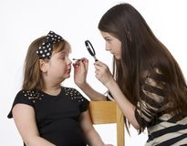 Girls make-up Stock Photo