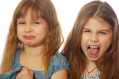 Girls making faces Royalty Free Stock Images