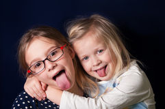Girls Making Faces Royalty Free Stock Photos