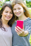 Girls making a selfie Royalty Free Stock Images