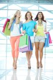 Girls in the mall Stock Image
