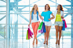 Girls in the mall Stock Photo