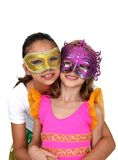 Girls with mask Royalty Free Stock Photos
