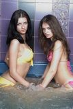 Girls in massage bath Royalty Free Stock Photos