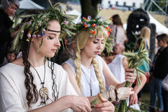 Girls on midsummer holiday Royalty Free Stock Photography