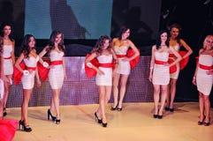 Girls at Miss Ukraine Royalty Free Stock Photos