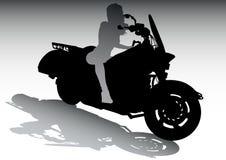 Girls on motorcycle Stock Photo