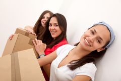 Girls moving Royalty Free Stock Images