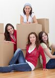 Girls moving Stock Photos