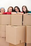 Girls moving Royalty Free Stock Image