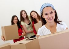 Girls moving Royalty Free Stock Photo