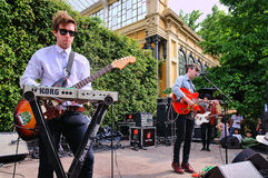 Girls Names (band) performs at Parc de la Ciutadella for free Stock Image