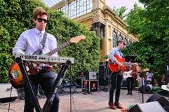 Girls Names (band) performs at Parc de la Ciutadella for free Stock Image