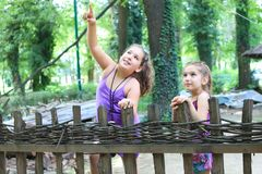 Girls in the nature Stock Images