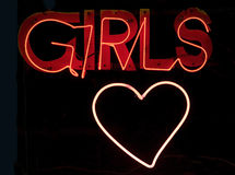Girls in neon stock photography