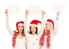 Girls on the New Year's Eve standing Royalty Free Stock Photo
