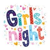 Girls night. Decorative type lettering design Stock Photo