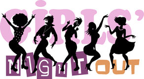 Girls' Night Out Royalty Free Stock Photography