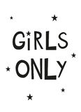 Girls Only Nursery Printable Poster Royalty Free Stock Photography