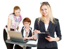 The girls in the office Stock Images