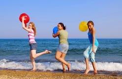 Girls On Beach Royalty Free Stock Photo