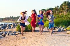 Girls On Seacoast Royalty Free Stock Photography