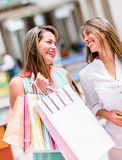 Girls out shopping Stock Image