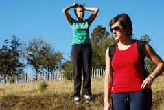 Girls outdoor Royalty Free Stock Images