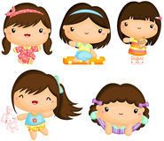 Girls in Pajamas Royalty Free Stock Photo