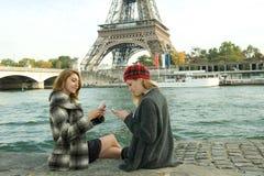 Girls In Paris royalty free stock photos