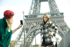 Girls In Paris Royalty Free Stock Photo