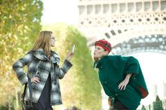 Girls In Paris Royalty Free Stock Image