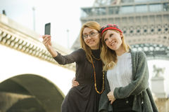 Girls In Paris Royalty Free Stock Photos