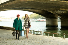 Girls In Paris Stock Photography