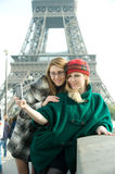 Girls In Paris Stock Photos