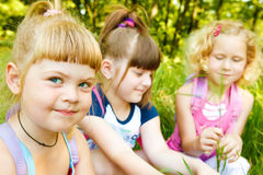 Girls in park Stock Images