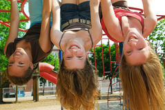 Girls in a park Royalty Free Stock Photo