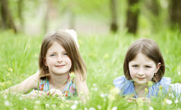 Girls in the park Stock Photos