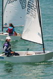 Girls - participants sailing race Royalty Free Stock Photo