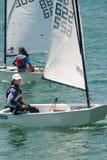 Girls - participants sailing race Royalty Free Stock Photo