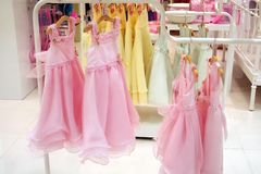 Girls' party dresses Royalty Free Stock Image