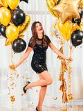 Girls party special occasion brunette lady royalty free stock photo