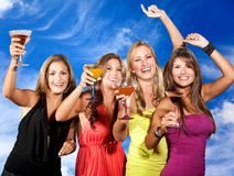 Girls partying Royalty Free Stock Photos