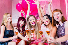 Girls partying in night club Royalty Free Stock Photos